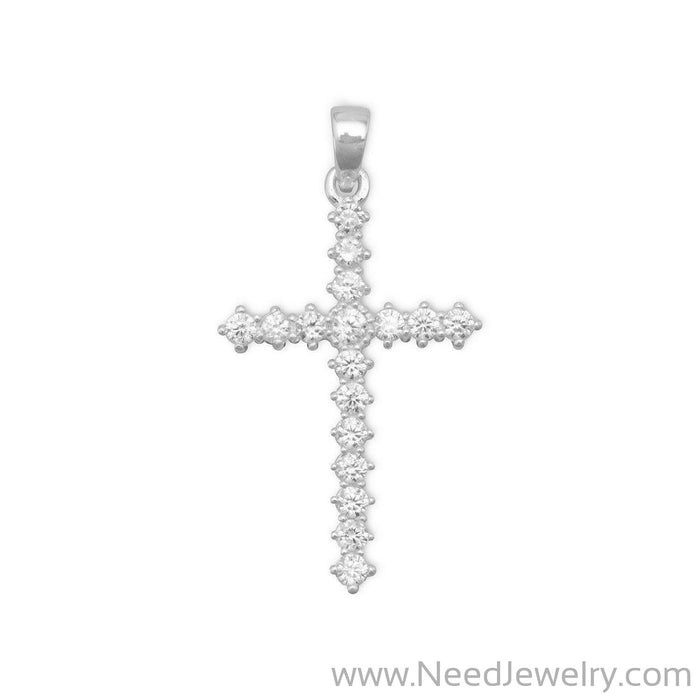 CZ Cross Pendant-Pendants-Needjewelry.com