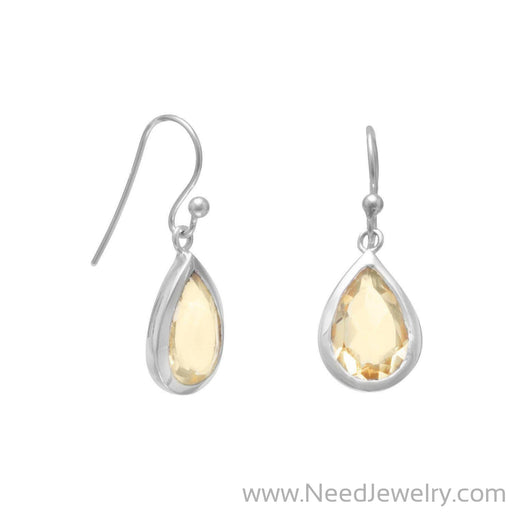 Faceted Citrine Earrings-Earrings-Needjewelry.com