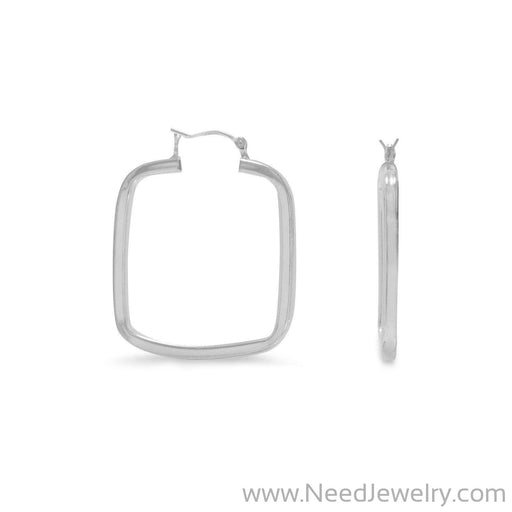 2 x 29mm Square Hoop Earrings-Earrings-Needjewelry.com