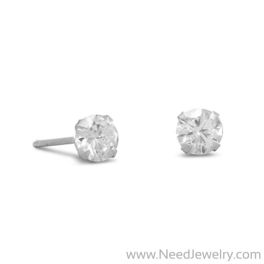 5mm CZ Stud Earrings-Earrings-Needjewelry.com