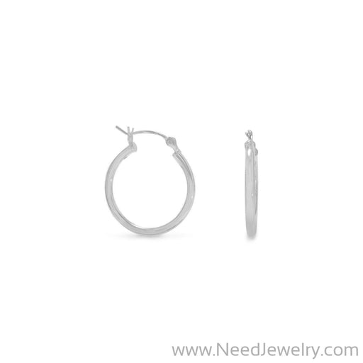 2mm x 20mm Hoop Earrings with Click-Earrings-Needjewelry.com