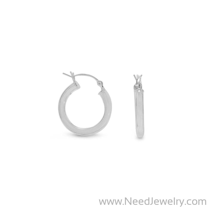 3mm x 20mm Hoop Earrings with Click