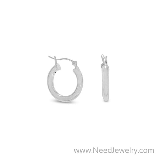 3mm x 18mm Hoop Earrings with Click Closure-Earrings-Needjewelry.com