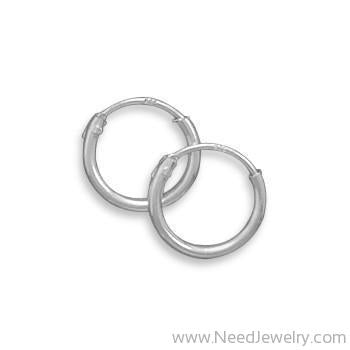10mm Endless Hoop Earrings-Earrings-Needjewelry.com