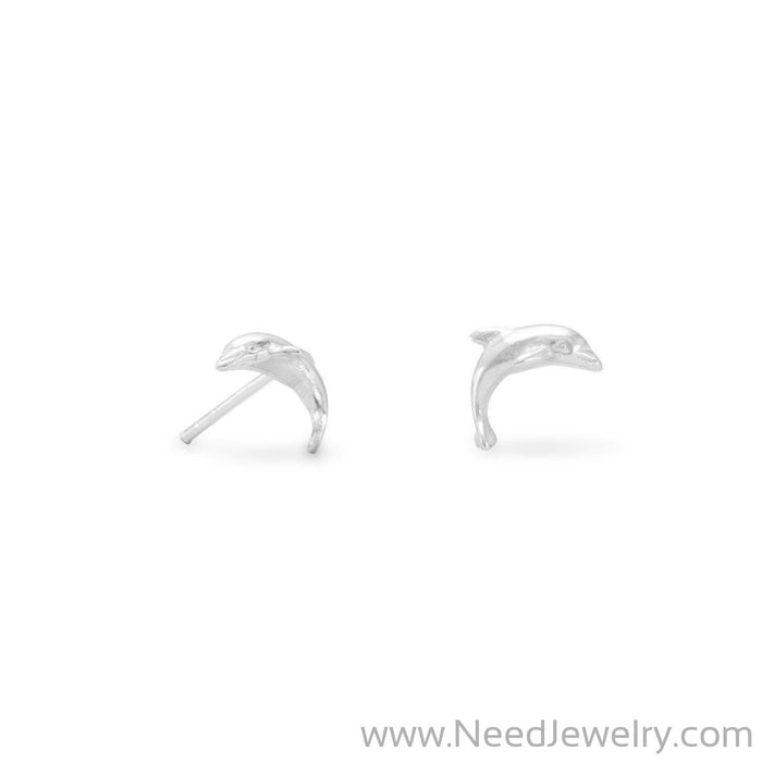 Small Dolphin Earrings-Earrings-Needjewelry.com