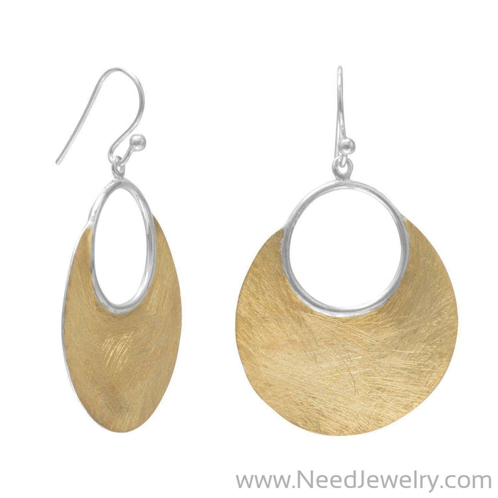 14 Karat Gold Plated Brushed Earrings-Earrings-Needjewelry.com