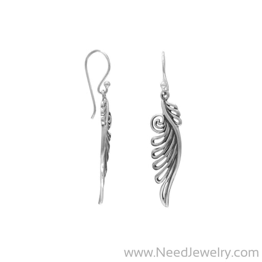 Ornate Angel Wing Earrings-Earrings-Needjewelry.com