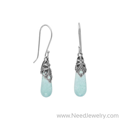 Roman Glass Drop Earrings-Earrings-Needjewelry.com