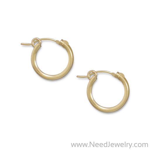12/20 Gold Filled 2mm x 15mm Hoops-Earrings-Needjewelry.com