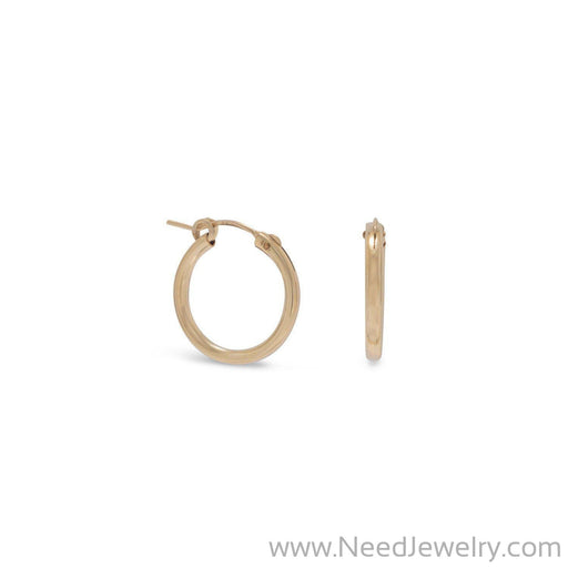 12/20 Gold Filled 2mm x 19mm Hoops-Earrings-Needjewelry.com