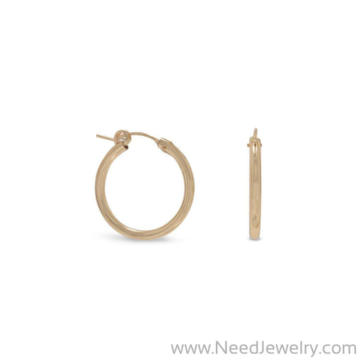 12/20 Gold Filled 2mm x 22mm Hoops-Earrings-Needjewelry.com