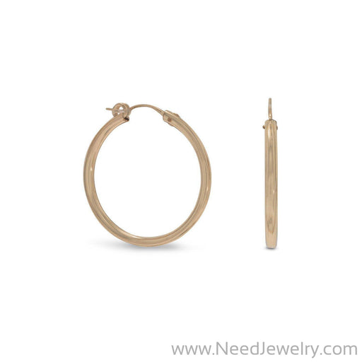 12/20 Gold Filled 2mm x 27mm Hoops-Earrings-Needjewelry.com