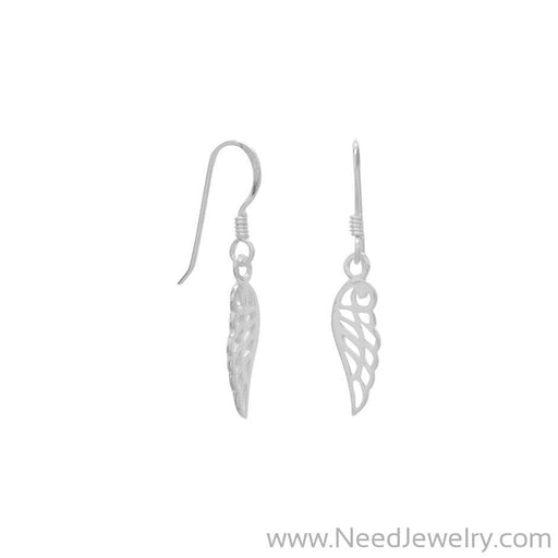 Polished Angel Wing Earrings-Earrings-Needjewelry.com