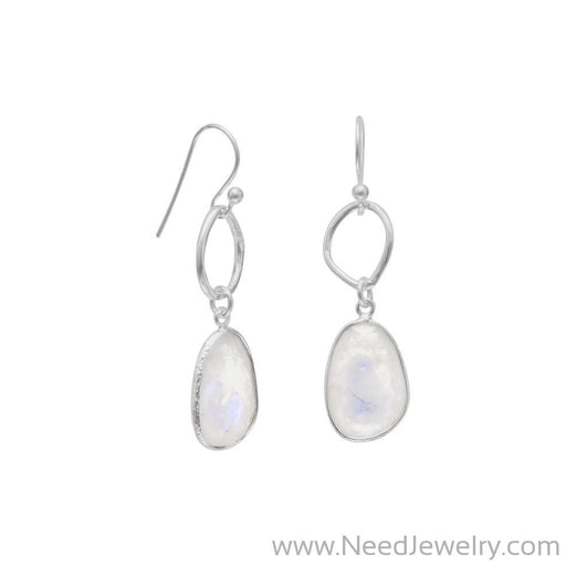 Rainbow Moonstone Drop Earrings-Earrings-Needjewelry.com