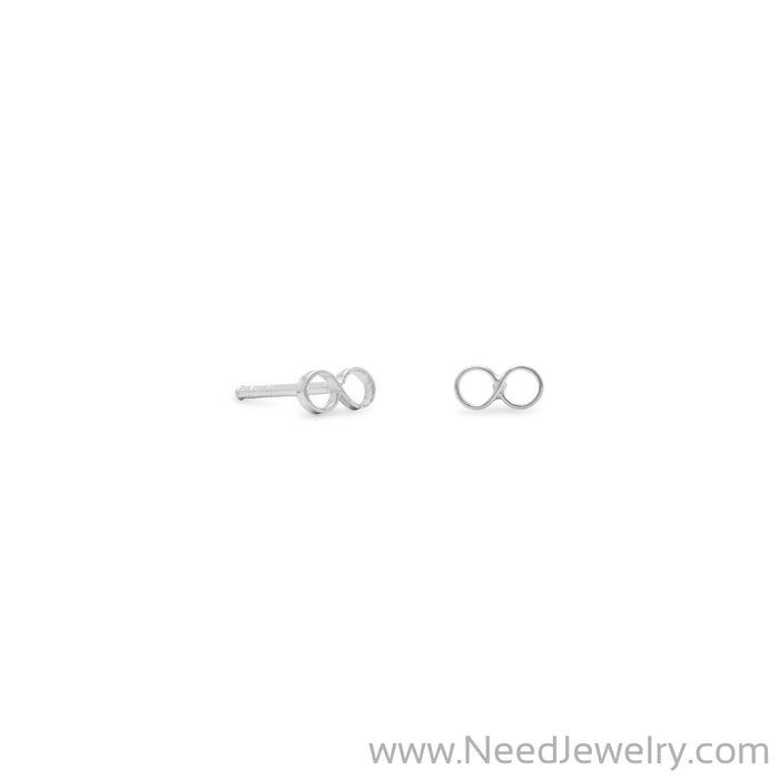 Polished Infinity Earrings-Earrings-Needjewelry.com