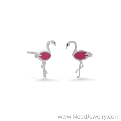 Pink Flamingo Earrings-Earrings-Needjewelry.com