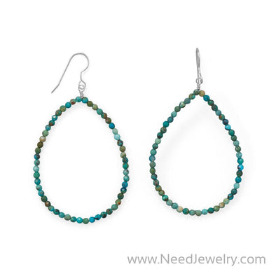 Ooh La La! Natural Turquoise Statement Earrings-Earrings-Needjewelry.com