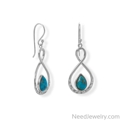 Item # [sku} - Figure 8 Turquoise French Wire Earring on NeedJewelry.com
