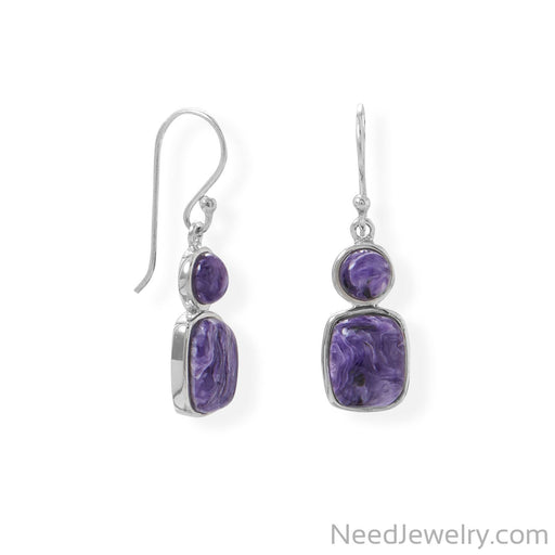 Item # [sku} - Multi Shape Charoite Earring on NeedJewelry.com
