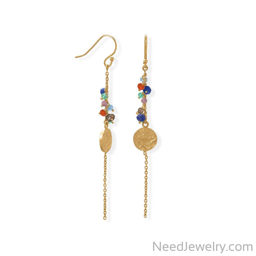Item # [sku} - 14 Karat Gold Plated Multi Bead and Disk Earring on NeedJewelry.com