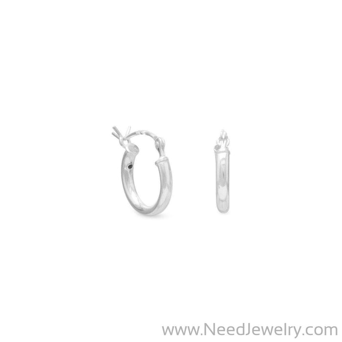 2mm x 12mm Hoop with Click-Earrings-Needjewelry.com