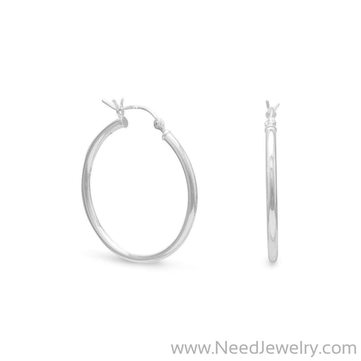 2mm x 28mm Hoop Earrings with Click-Earrings-Needjewelry.com