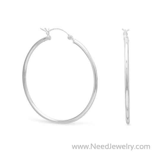 2mm x 40mm Hoop Earrings with Click-Earrings-Needjewelry.com