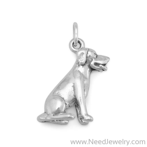 7095-Sitting Labrador Dog Charm-Charms-Needjewelry.com