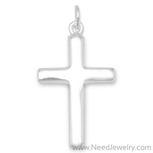 Plain Polished Cross Pendant-Pendants-Needjewelry.com