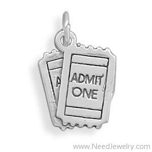 ADMIT ONE Movie Tickets Charm-Charms-Needjewelry.com