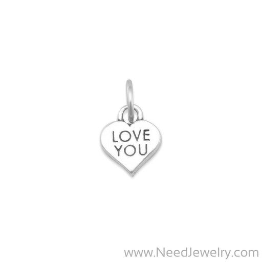LOVE YOU Heart Charm-Charms-Needjewelry.com