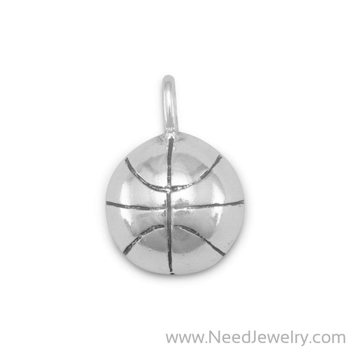 1/2 Round Basketball Charm-Charms-Needjewelry.com