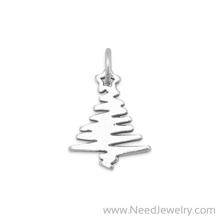 Zig Zag Christmas Tree Charm-Charms-Needjewelry.com