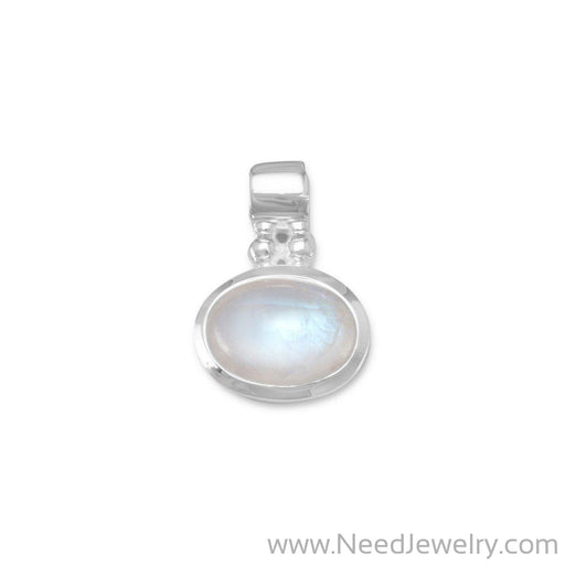 Oval Rainbow Moonstone Pendant-Pendants-Needjewelry.com