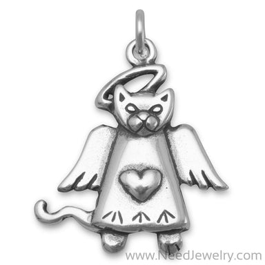 Cat Angel Charm-Charms-Needjewelry.com