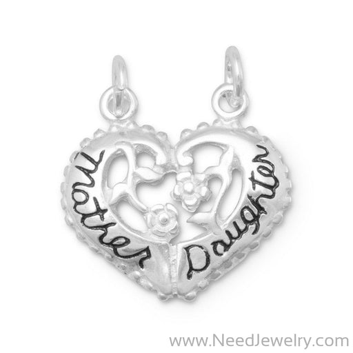 Heart Shaped Mother/Daughter Break-Away Charm-Charms-Needjewelry.com