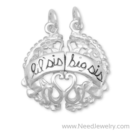 Lil Sis and Big Sis Break-Away Charm-Charms-Needjewelry.com