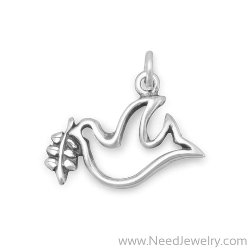 Dove with Olive Branch Charm-Charms-Needjewelry.com