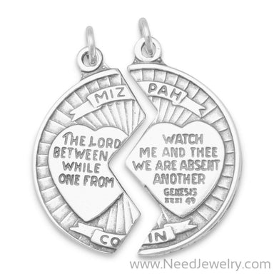Mizpah Break Apart Coin Charm-Charms-Needjewelry.com