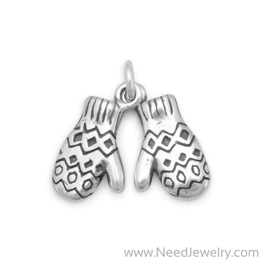 Oxidized Mittens Charm-Charms-Needjewelry.com