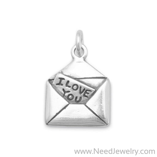 I Love You Letter Charm-Charms-Needjewelry.com