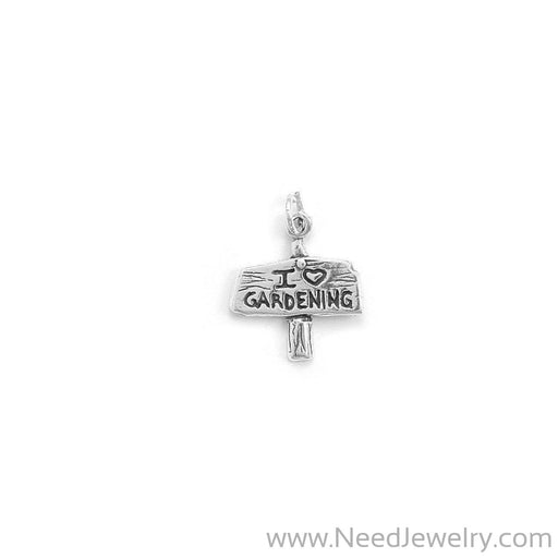 I Love Gardening Sign Charm-Charms-Needjewelry.com