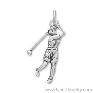 Female Golfer Charm-Charms-Needjewelry.com