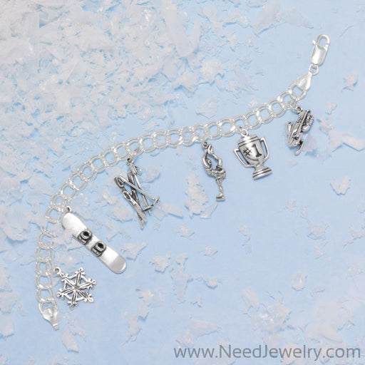 Snow Ski and Ski Poles Charm-Charms-Needjewelry.com