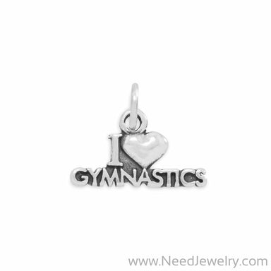 I Love Gymnastics Charm-Charms-Needjewelry.com