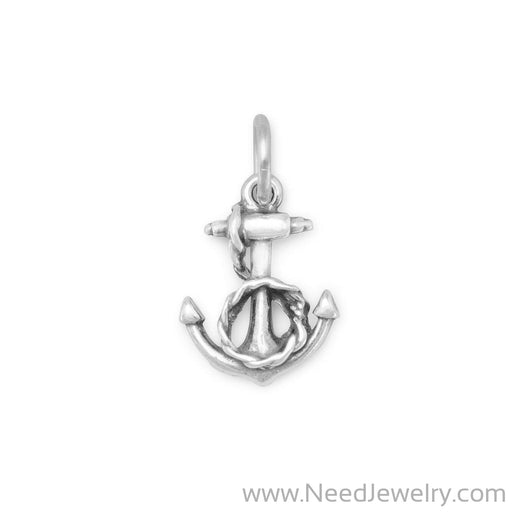 Anchor and Rope Charm-Charms-Needjewelry.com