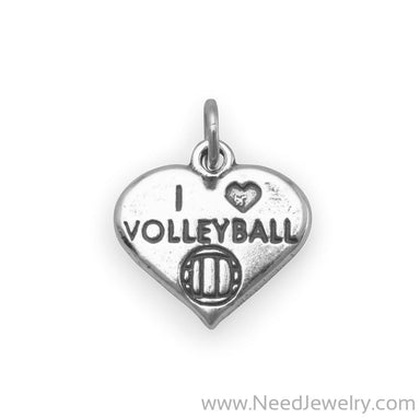 I Love Volleyball Charm-Charms-Needjewelry.com