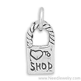 Love To Shop Reversible Bag Charm-Charms-Needjewelry.com