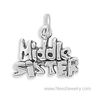 Middle Sister Charm-Charms-Needjewelry.com