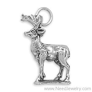 8 Point Buck Charm-Charms-Needjewelry.com